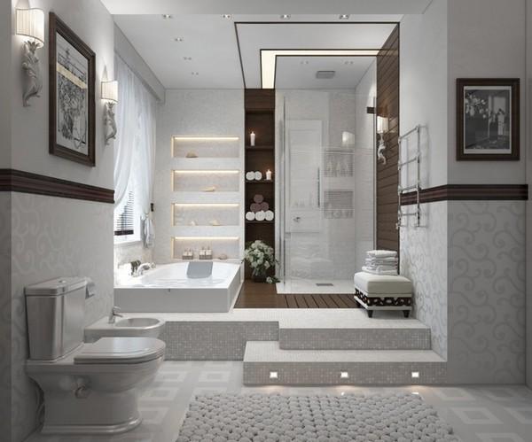 Bagni Con Doccia Senza Piatto : Progettazione di un moderno bagno con doccia doccia da piastrelle