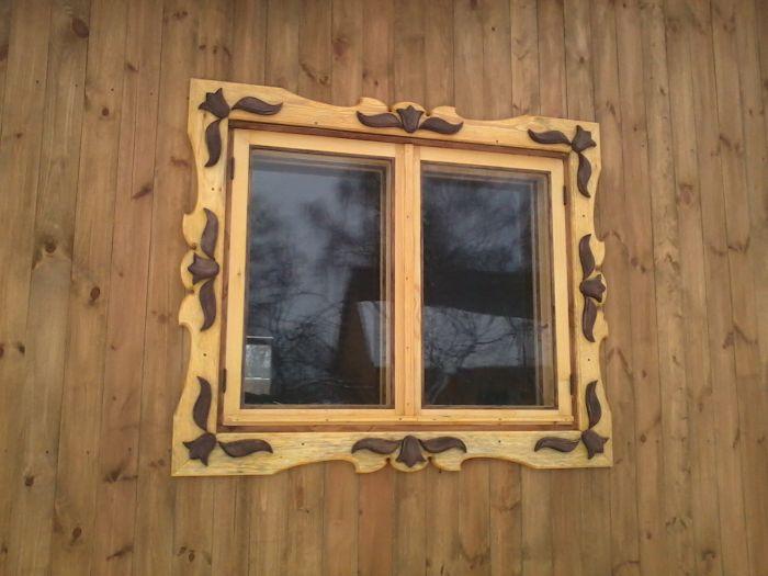 Простой наличник на окно своими руками фото 18