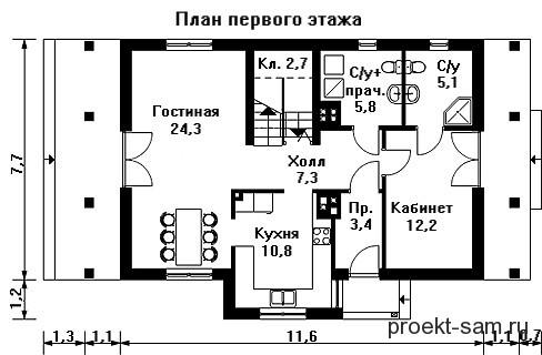 Progetto casa 100 mq un piano progetti di case con for Pianta del piano casa di 800 piedi quadrati